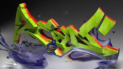 graffiti alphabet, graffiti letters, 3d graffiti