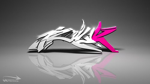 Graffiti Alphabet 3D Letters Cool Design