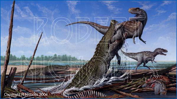 Q Significa Shark Dinowamas: Deinosuchus