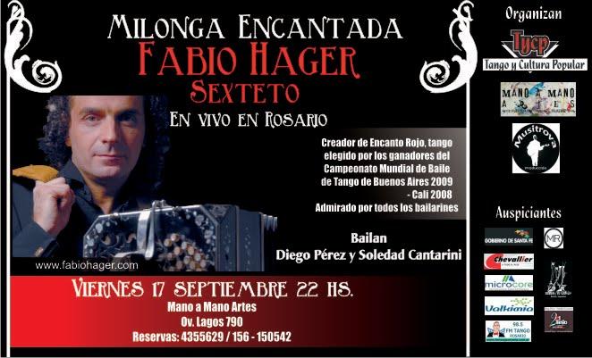 Fabio Hager en Rosario 17   de septiembre Mano a Mano Artes