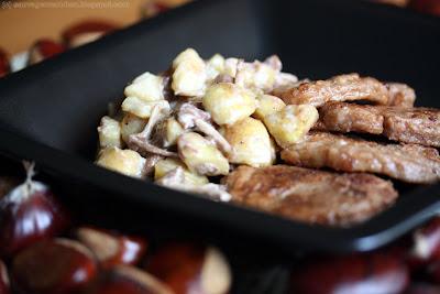 Médaillons de filet mignon en croute de châtaigne et sauté de faux mousserons