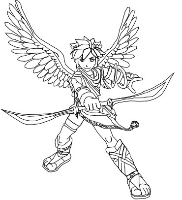 Super smash bros pit coloring pages sketch coloring page - Dessin de pitbull ...