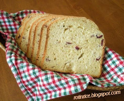 cranberry rice bread machine recipe