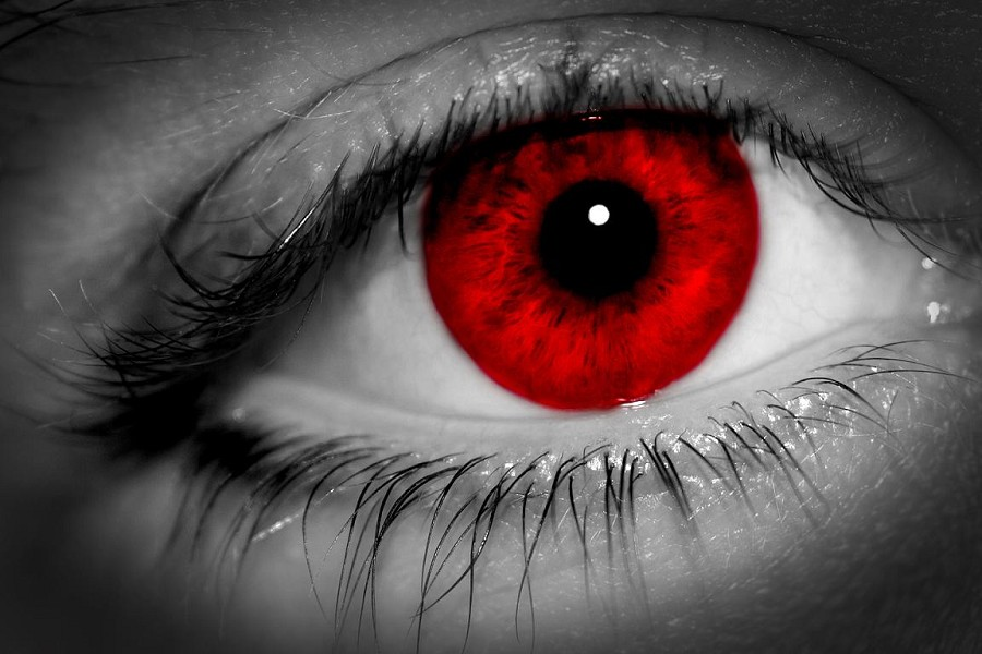 eyes dark blue green match personality blood red eyes