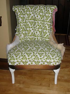 Antes y después: Un sillón tapizado