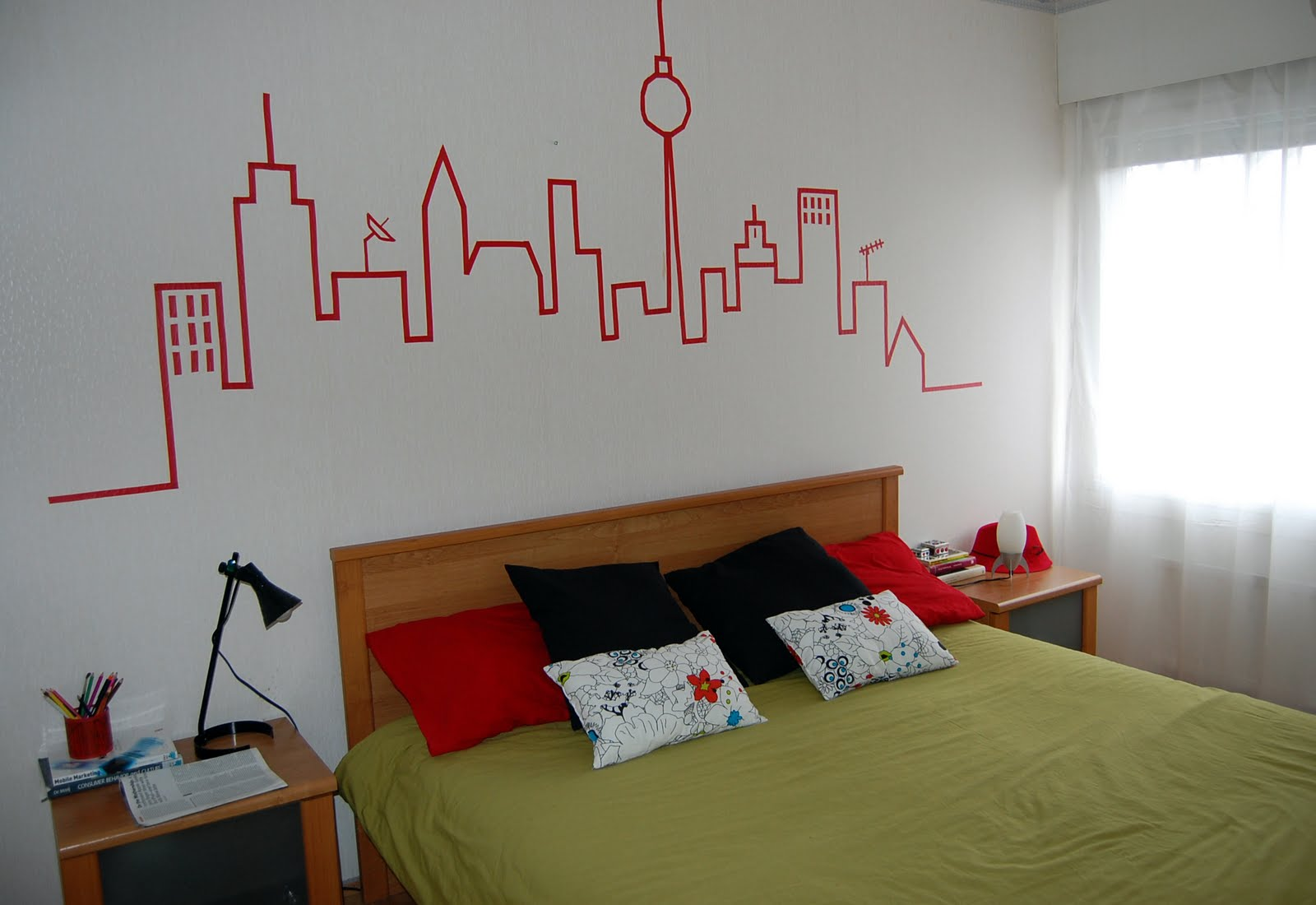 Naifandtastic decoraci n craft hecho a mano - Como decorar una pared de habitacion ...