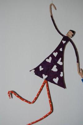 decoración, hecho a mano, muñecos, papel maché, manualidad