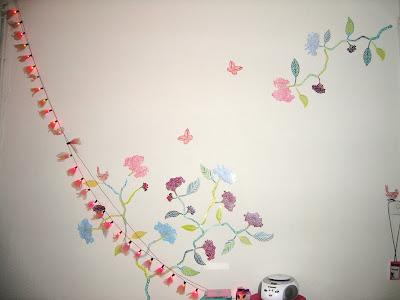 vinilo, arbol en la pared, papeles