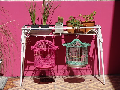 Reciclando, jardinera, reciclado, ants y después
