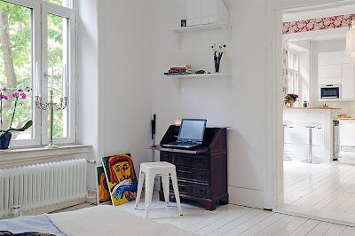 Casas pequeñas, Pequeños espacios, decoración, apartamento, casa, 54 metros cuadrados