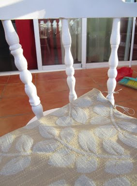 Antes y después: Recuperando una silla, tapizar, tela, tapizado, pintar, silón, restauración