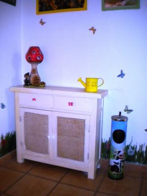 Antes y después de un mueble castellano, cómoda, reciclado