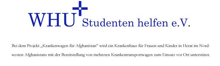 Krankenwagen für Afghanistan