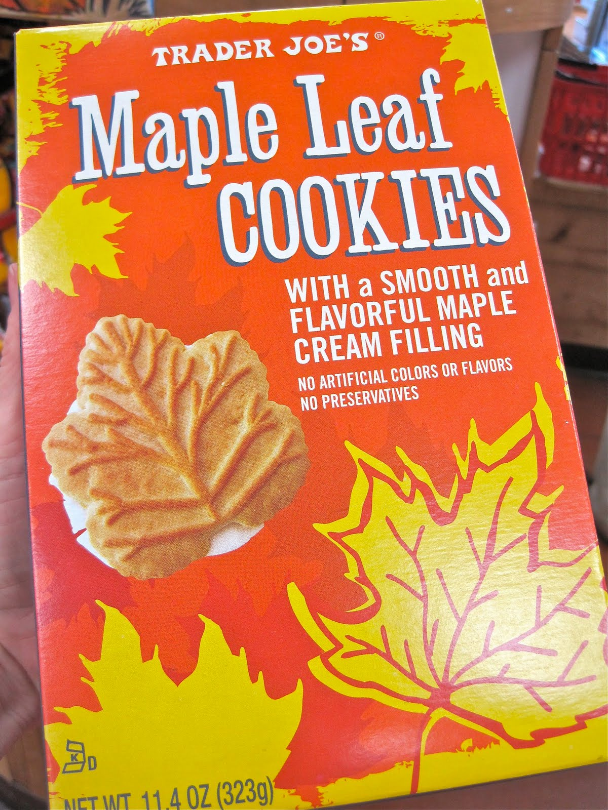 ... the whole cookie joe s maple leaf cookies the maple leaf is the best