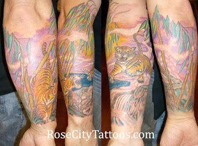 Tiger tattoo sleave