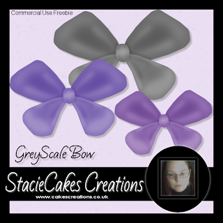 Greyscale Bow - By: CakesCreations SC_Bowfr