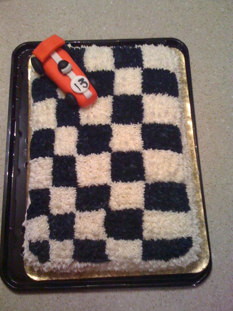 Pieceofcake Race Car Checkered Flag Cake