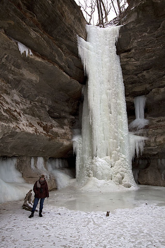 Frozen waterfall in St. Louis Canyon