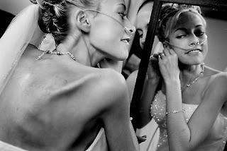 Katie Kirkpatrick in front of the mirror