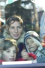 madre zingara con bambini