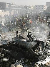gaza durante i bombardamenti