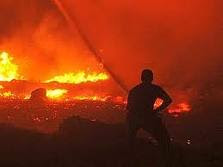 incendio  attorno a Mosca