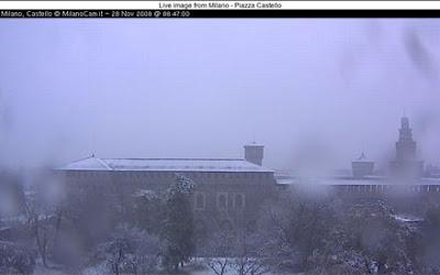 prima neve a Milano