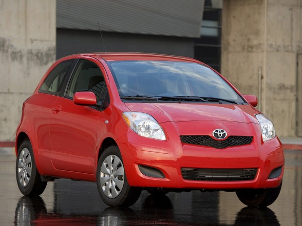 2009 Toyota Yaris Sedan Red Color
