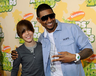 justin with usher