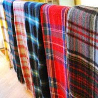 Vintage Plaid Wool Blankets at Pretty Funny in Tarrytown