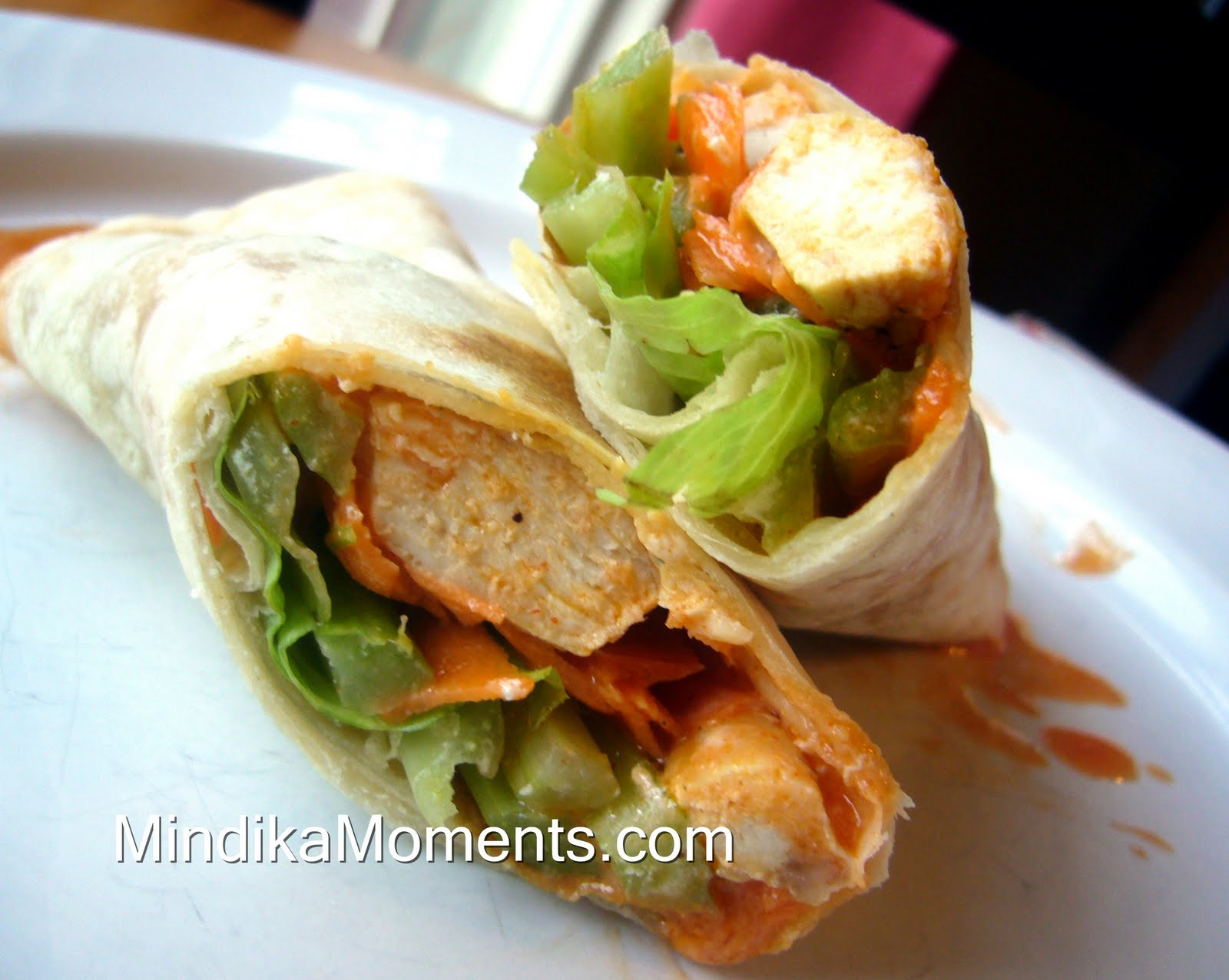 Mindika Moments: BUFFALO CHICKEN WRAPS