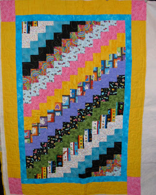 Candy Cane Lane Happy Dance Quilt Top, an Emily Huffman Original