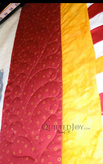 Irish Chain, quilted by Angela Huffman