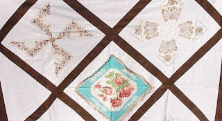 Handkerchief quilt waiting in the wings