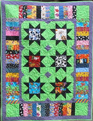 I Spy baby quilt, quilted by Angela Huffman