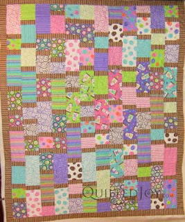 Moda Snowman S'mores quilt, quilted by Angela Huffman