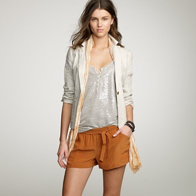Leave it to J Crew to make burnt orange, silk shorts look fantastic.
