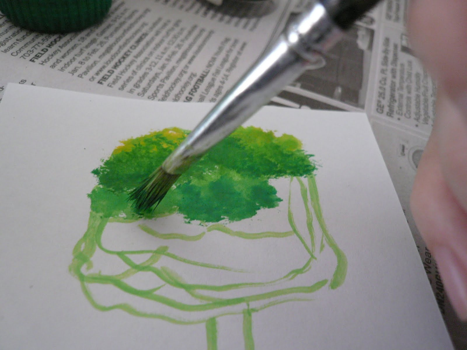 Drawing 4 beginers: water-colored tree