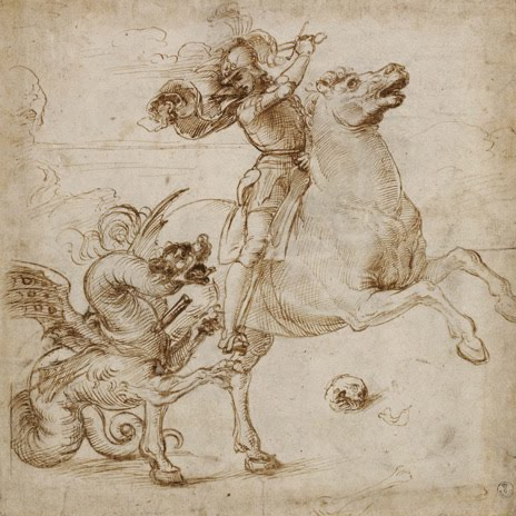 Idle speculations italian renaissance drawings at the - Raphael dessin ...