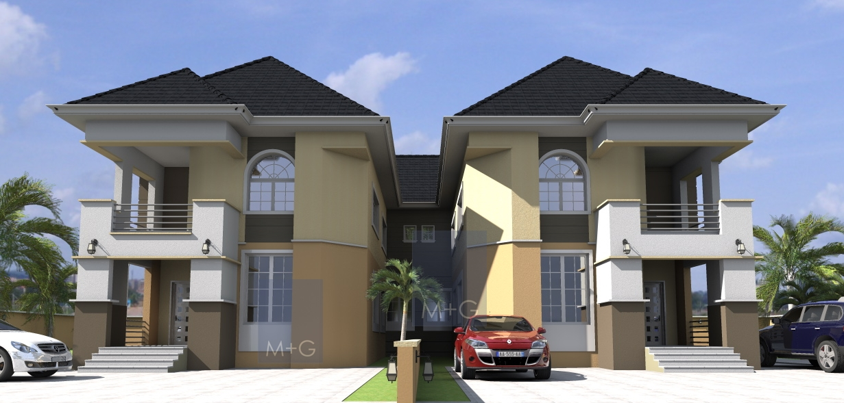 Contemporary nigerian residential architecture contemp 5 for Semi duplex house plans