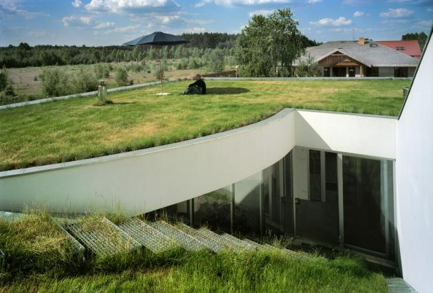 Underground House Roof Design