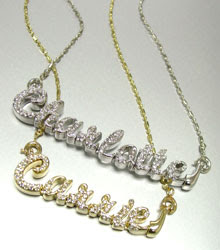 Personalized Crystal Name Necklace #050509