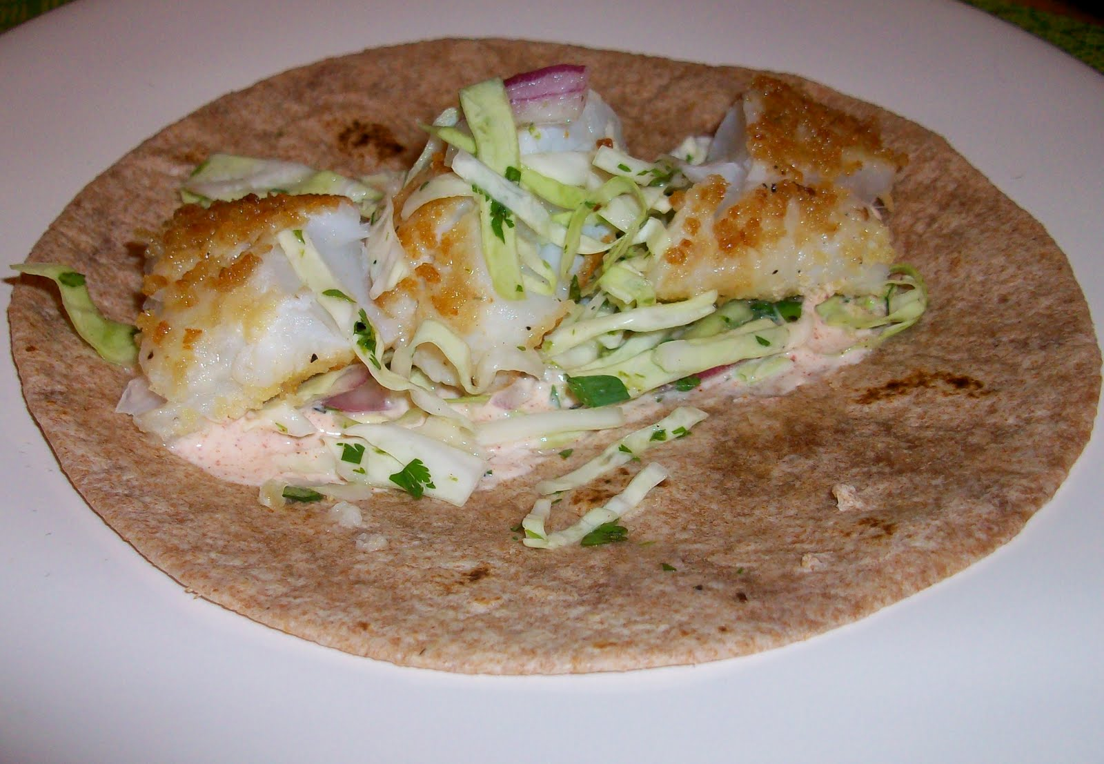 Off my plate fish tacos with cabbage slaw and spicy mayo for Fish tacos with coleslaw