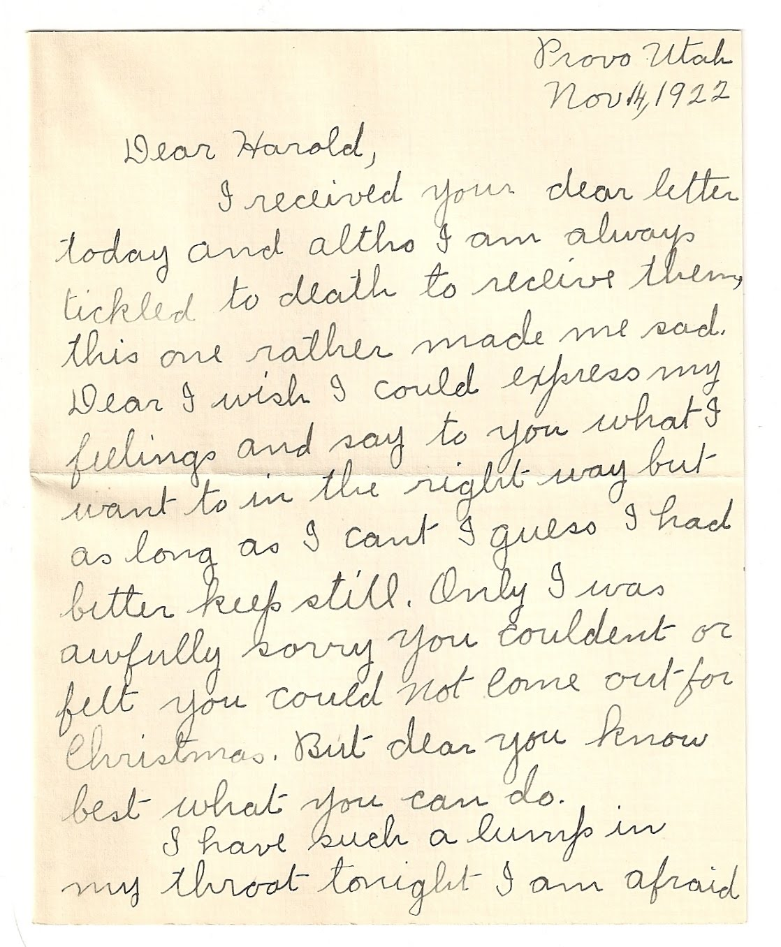 this darling love letter made my eyes well up for my sweet love sick 22 year old grandmother she was attending college working on her normal degree to