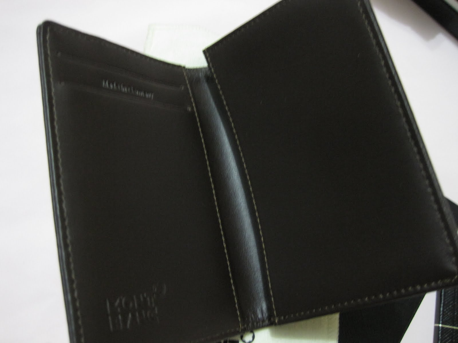 montblanc mont blanc nightflight business card holder ident no 08778 leather silk cotton fabric with fine rib structure resistant to stains - Mont Blanc Business Card Holder