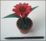 Vas & Flower miniature made from Lontar Leaf & Wood