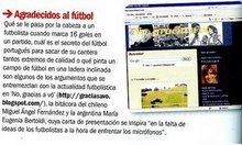 DISTINCION DE LA REVISTA FUTBOL LIFE (ESPAA) EN SU SECCON FUT-BLOG