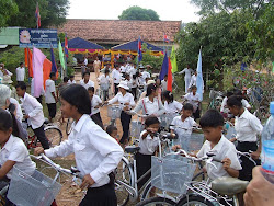 76 Children Ride Away on Rotary Bicycles
