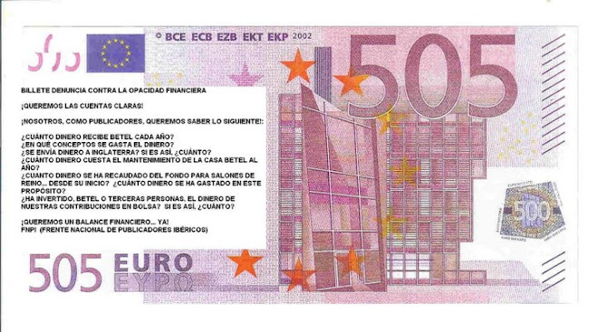 Billete denuncia..., salo!