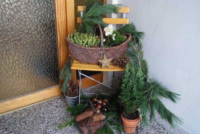 filz und garten gartenblog weihnachtliches willkommen. Black Bedroom Furniture Sets. Home Design Ideas